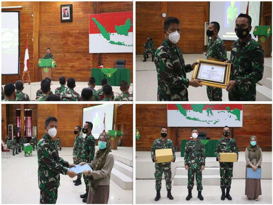 Danrem 041/Gamas Berikan Jam Komandan dan Penghargaan Kepada Prajurit Yang Berprestasi