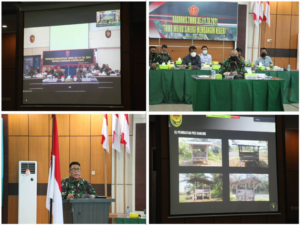 Kasrem 041/Gamas Megikuti Paparan Dansatgas TMMD ke-111 Kepada Pangdam II/Sriwijaya