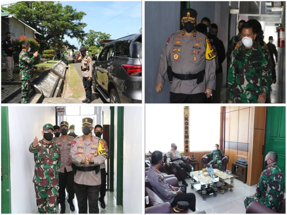Danrem 041/Gamas Menerima Kunjungan Silaturahmi Kapolda Bengkulu