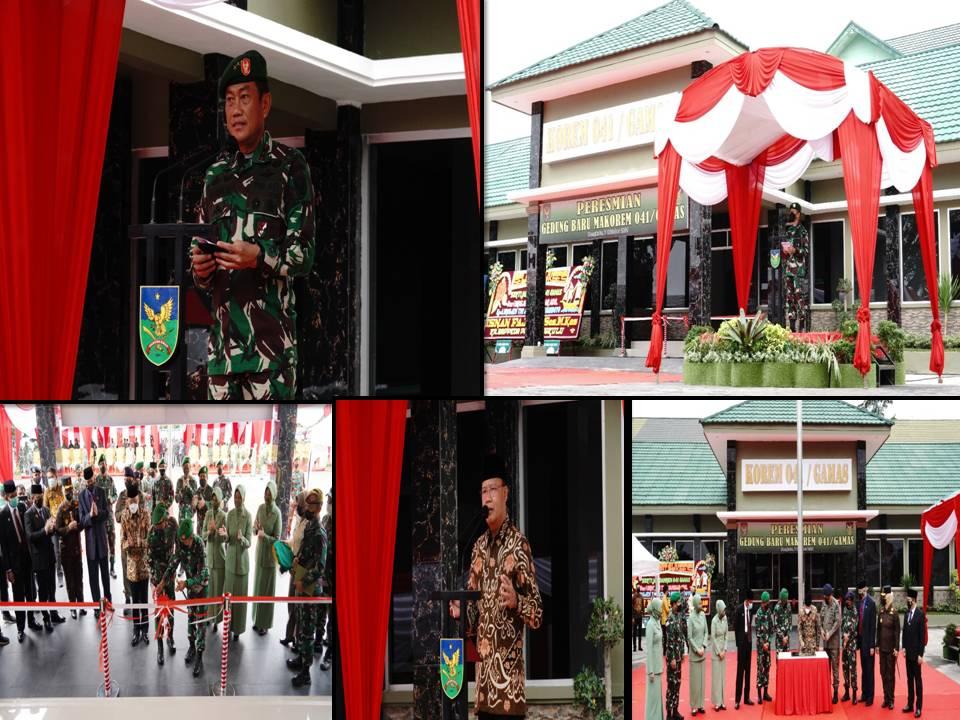 Pangdam II/Swj bersama Gubernur Bengkulu Resmikan Penambahan Gedung Baru Makorem 041/Gamas
